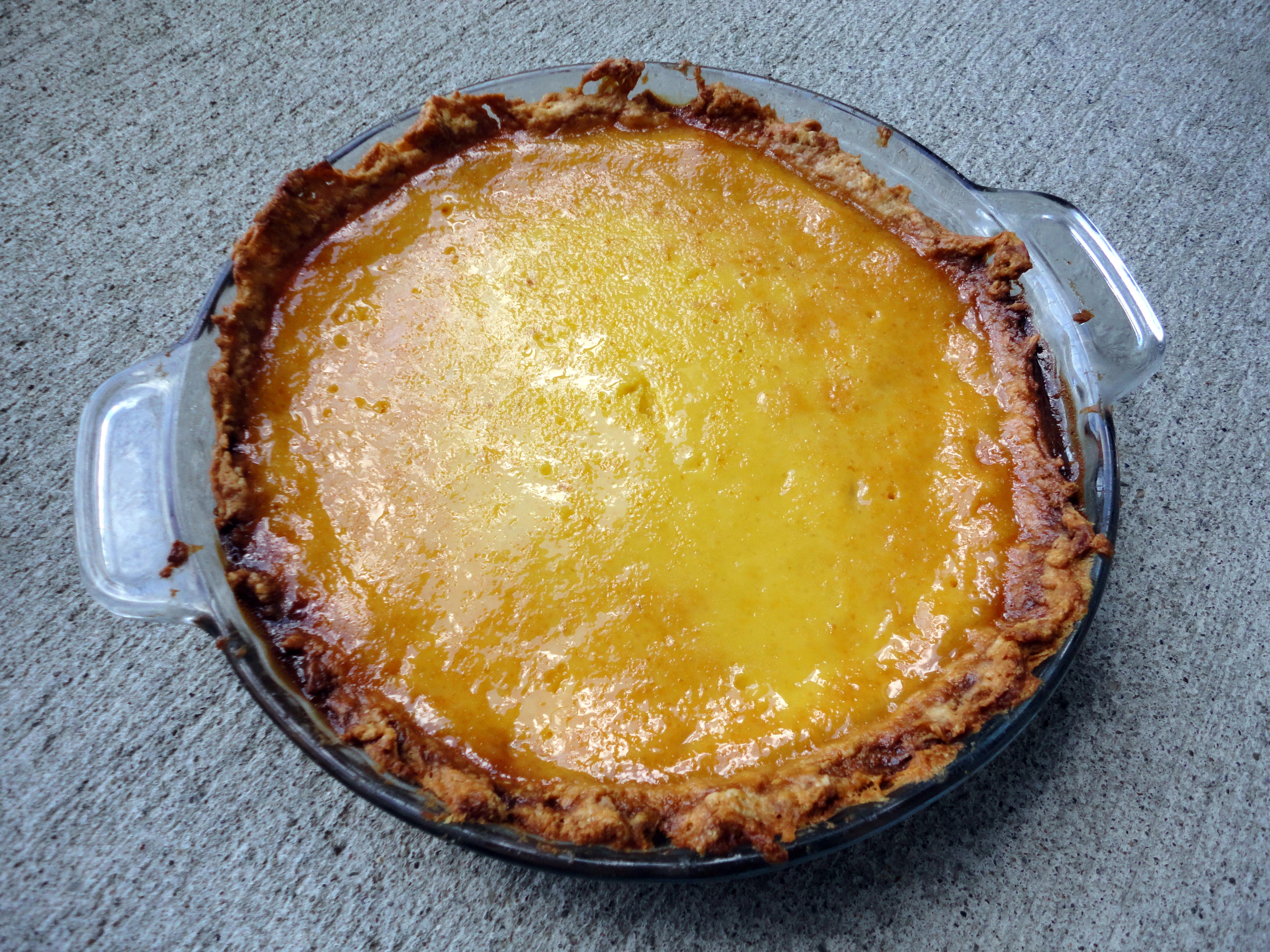 Egg Custard Pie Paula Deen