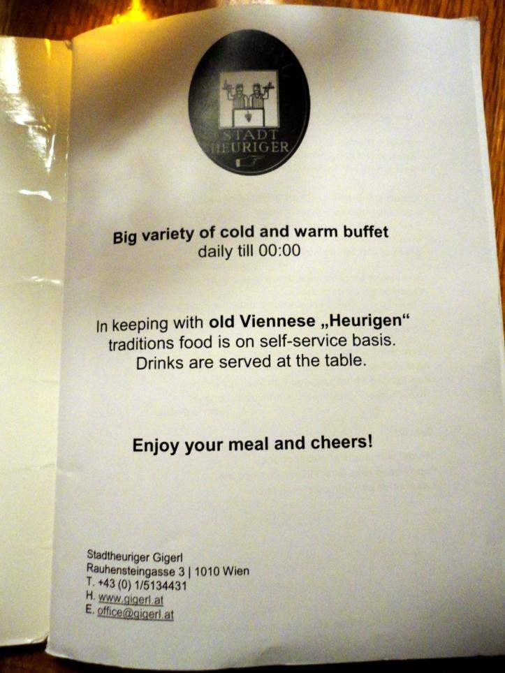 gigerl menu