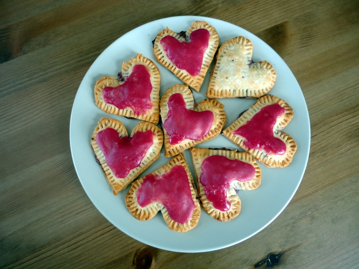 iced pie hearts