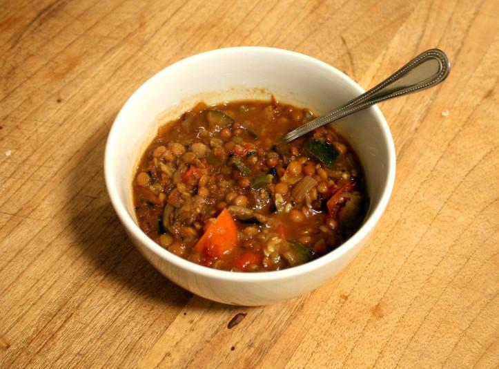 Eggplant Lentil Soup