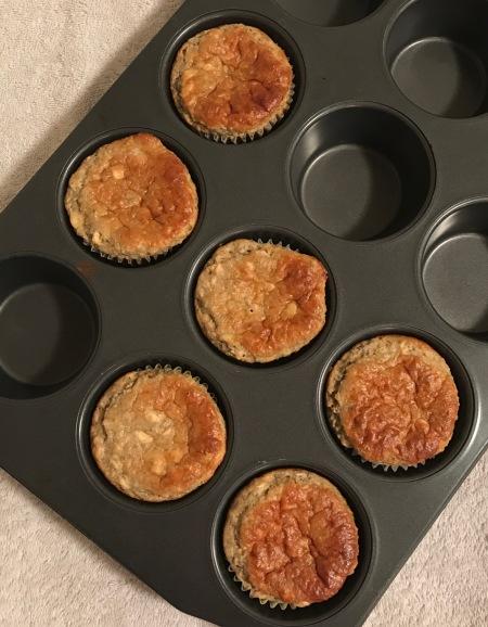 almond butter banana muffin